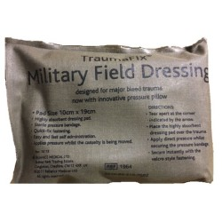 Militaarne traumaside Traumafix 10 x 19cm, keskmine