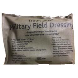 Military Field Dressing 10 x 19cm, medium