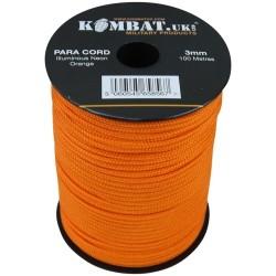 3mm Para Cord Rope, 100m, neon orange