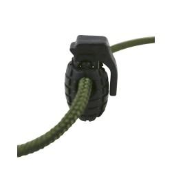 Nööri stopper Granaat 8tk, must