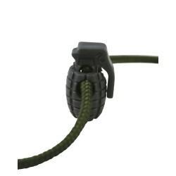 Cord Stoppers, Grenade, 8pcs, Gunmetal Grey