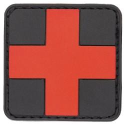 "Velcro märk ""First Aid"", 3D, must/punane"