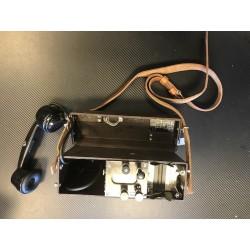 Шведский армейский полевой телефон Ericsson с ремешком