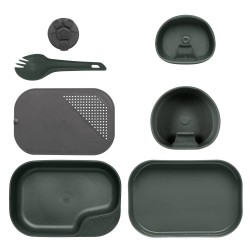Wildo Camp-a-Box® nõudekomplekt, oliivroheline