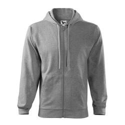 Толстовка Malfini Trendy Zipper, dark grey melange