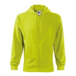 Malfini Trendy Zipper sweatshirt, lime punch