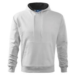 Malfini Hooded Sweater pusa, valge