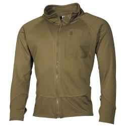 "US Grid fleece Lining, ""Tactical"", coyote tan"