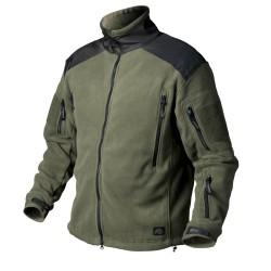 Helikon LIBERTY Jacket - двойной флис - Оливково-зеленый / черный