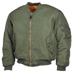 US Flight Jacket, MA1, Mod., OD green