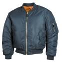 US Flight Jacket, MA1, Mod., Blue