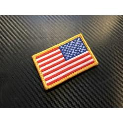 """Текстильная липучке патч, """"United States"""", право"""