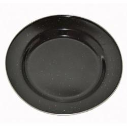 AB Enamel 25cm plate, black