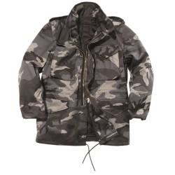 Стиль США M65 поле куртка с подкладкой, dark camo