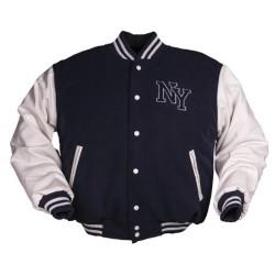 NY бейсбол куртка с значком, темно-синий