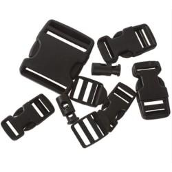 9-osaline klambrite komplekt, must