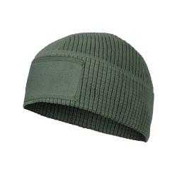 Helikon Range beanie cap, grid fleece, olive green