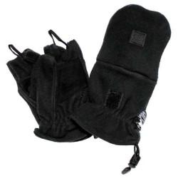 Флисовые перчатки, черный