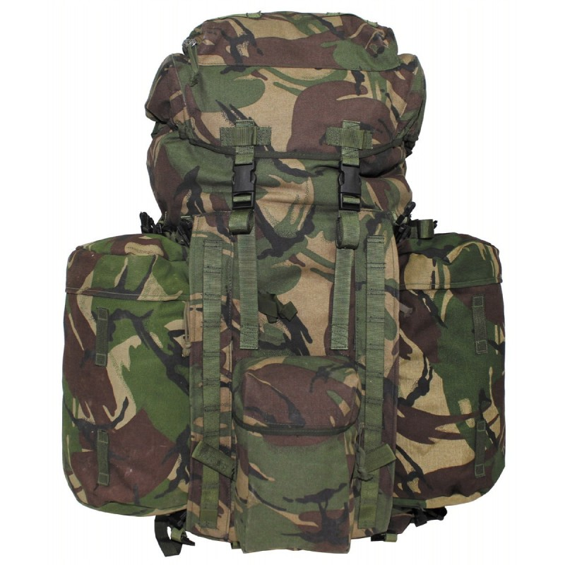 "GB Backpack, ""PLCE LONG"", side pockets, DPM camo"