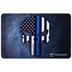 TekMat Punisher Thin Blue line, коврик для чистки пистолета