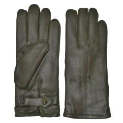 Немецкие полицейские кожаные перчатки для женщин, оливково-зеленый