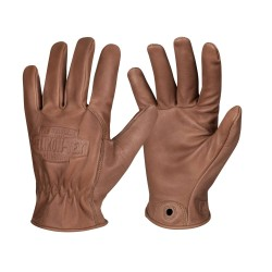 Кожаные перчатки Helikon Lumber - коричневые