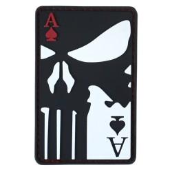 "Velcro sign, ""Ace Of Spades "" 3D, black"