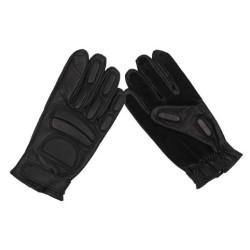 Leather Gloves, black,padding, buckskin reinforcement