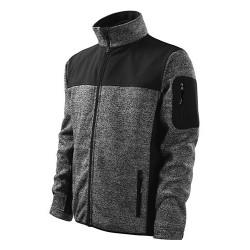 Malfini Casual Knitted softshell, black-grey