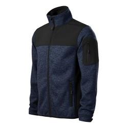 Malfini Casual Knitted softshell, black-blue