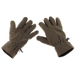 """Флисовые перчатки, """"Thinsulate"""", OD зеленый"""