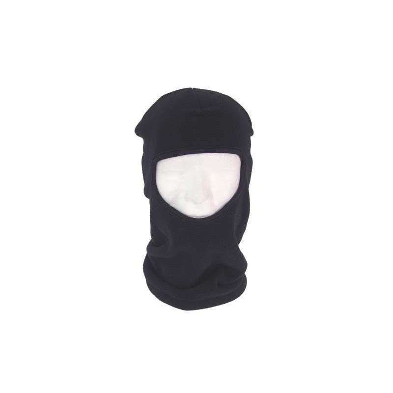 Balaclava, 1 hole, black, polyester-fleece