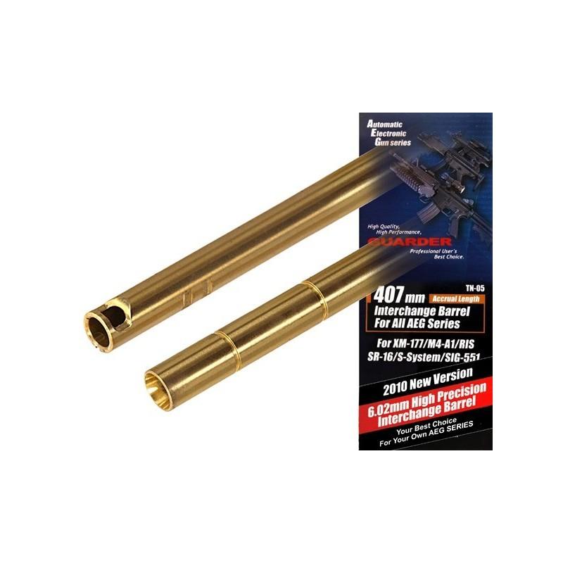Guarder 407mm, 6,02 täpsustoru XM-177/M4-A1/RIS/SR-16/S-SYSTEM/SIG-551-le
