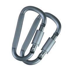 Kombat Locking Металлический Карабин 8мм, пара, Gunmetal Grey