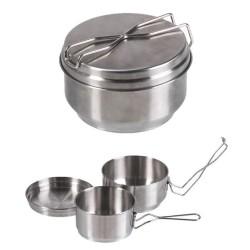 Czech 2-pc Stainless steel mess kit