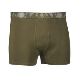 "Mil-tec Boxer shorts ""Skull"", 2-pack, olive green"