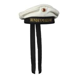 Mereväe müts Bundesmarine, märgiga, valge