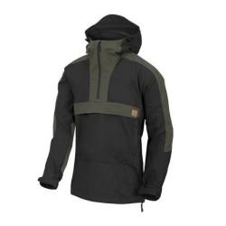 Helikon Woodsman Anorak jacket, Black / Taiga Green