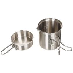 MFH 2-part Mess kit, stainless steel
