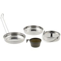 MFH 5-part Mess kit, stainless steel
