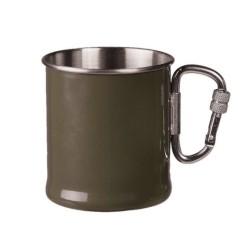 Кружка с карабином, 250мл, оливкового цвета