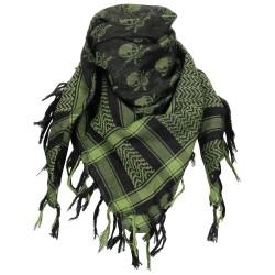 Shemagh - kaela/pearätik - must/roheline/pealuud