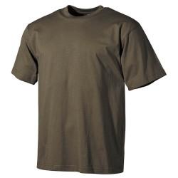 US T-Särk, klassikaline, oliivroheline