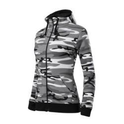 Malfini Ladies Camouflage hoodie, camo grey