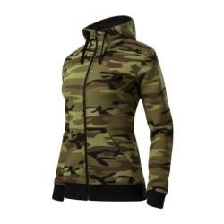 Malfini Ladies Camouflage hoodie, camo green