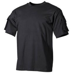 US T-särk, must, taskud käistel