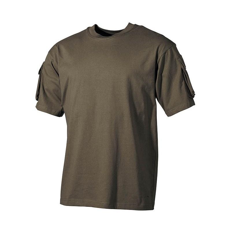 US футболка OD зеленый, с рукавом карманы
