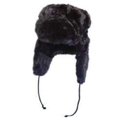 Vene stiilis müts Tschapka, must