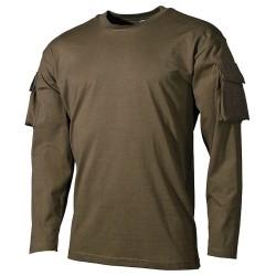 US T-särk ollivroheline taskud käistel, pikk