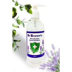 BCB Dr. Brown's Hand Sanitiser 500ml, Lavender